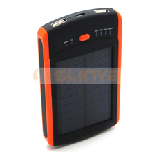 5V 100mA Solar Panel Dual Output Outdoor Use Phone Charger Emergency External Power Bank for HTC