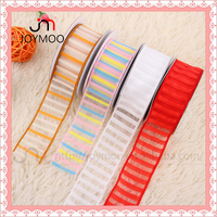 Wholesale Organza Ribbons Custom Logo Printed Sheer Organza Ribbons