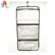 Zippered Pockets Travel Jewelry Roll up Organizer Bag with Hanger