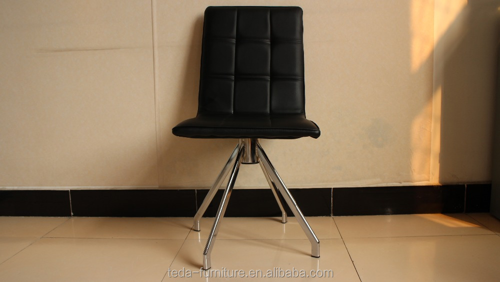 Factory price high quality half PU 360 degree rotating dining/restaurant chair