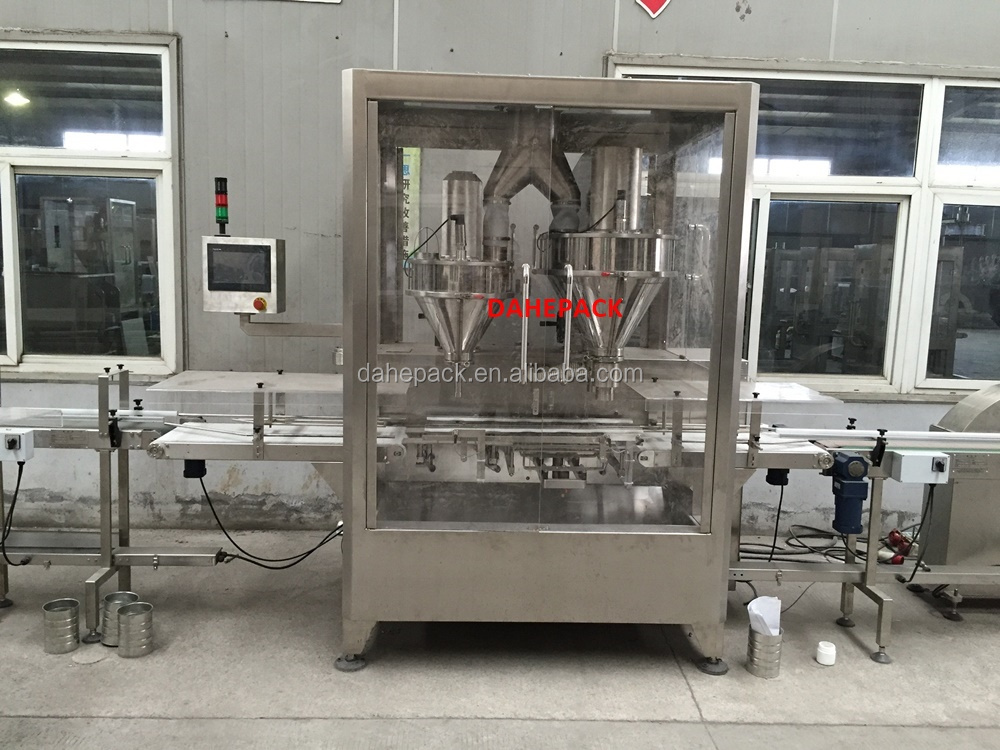 Automatic High Speed Canned Powder Filling Machine For Dairy Milk Powder
