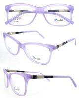 2015 hot sale acetate handmade women xray glasses purple with CE FDA