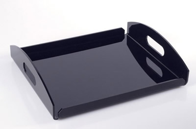 Customized colorful acrylic serving tray with handles