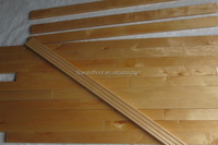 wear resistant indoor maple sports wood flooring