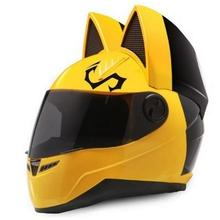 men and women all-weather racing motorcycle personality summer safety horn cat ear helmet for motorcycle