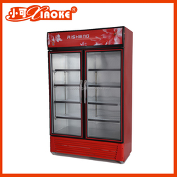 New Style upright 2 doors display fridge for beer and soft drink
