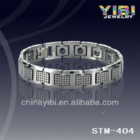2013 wholesale tungsten masonic bracelets with strong magnet ,germanium ,negative ion and far infrared STM-404