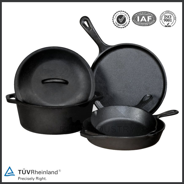 Enamel coating iron casting non-stick cookware