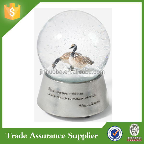 Factory manufacture cheap snow globe with cat design