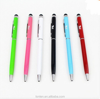 Bullet mini metal capacitive touch pen stylus screen for phone, tablet, laptop,built-in ballpoint pen 2 in 1 for meeting