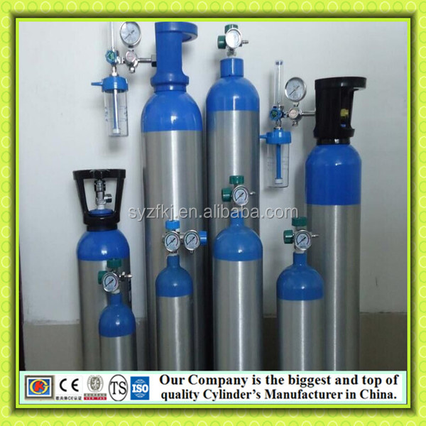 KJ Factory cheap sell High Pressure Seamless aluminium Gas Cylinder Medical Nitrous Oxide oxygen Cylinder