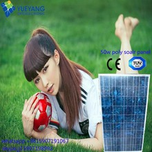 50W Customized size polycrystalline solar panel lowest price for Pasistan led red solar flashing lights