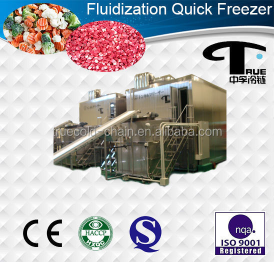 3000kg fluidized bed tunnel air blast freezer