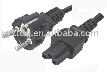 Europe 220V power cord SCHUKO Power plug