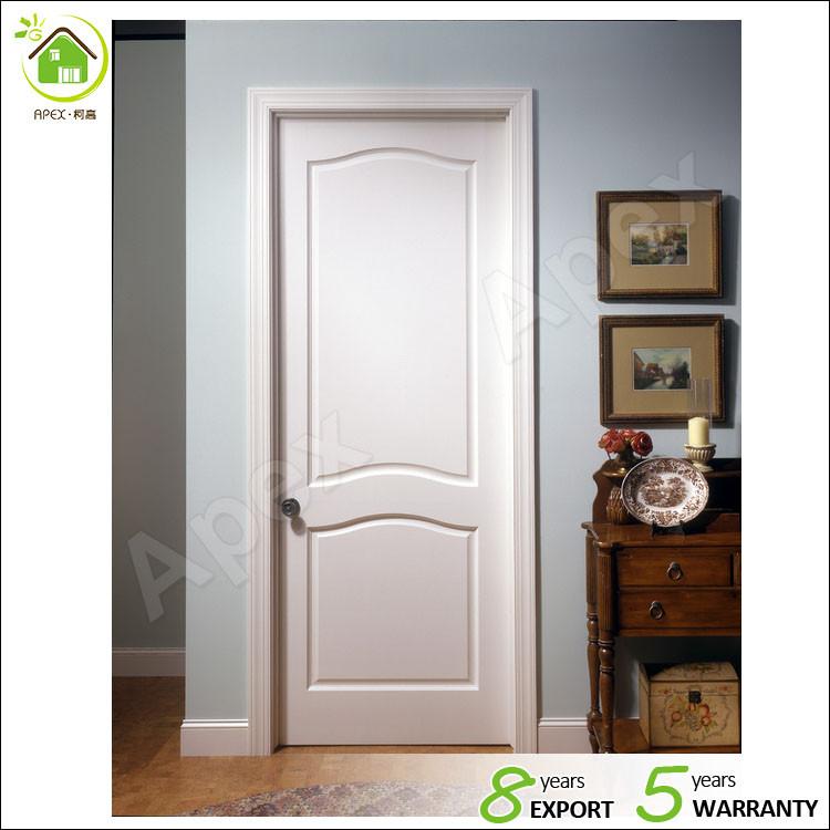 White Solid Custom Wood Interior Doors Kitchen Room