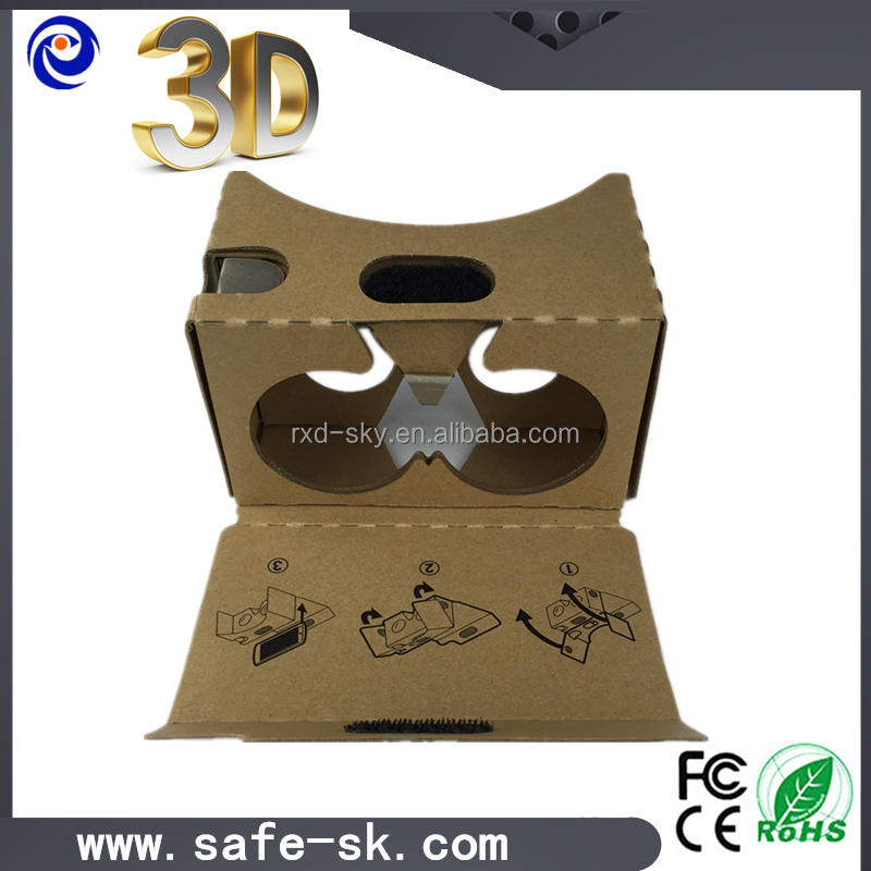 2015 virtual reality diy google cardboard 3d glasses