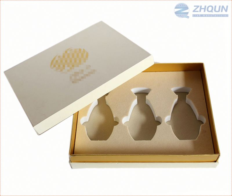 Factory Supply Custom Slotted wooden perfume bottle storage box