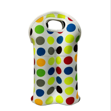 Wholesale Insulated Neoprene 2 Bottle Wine Tote Carrier Drink Holder Cooler Bag