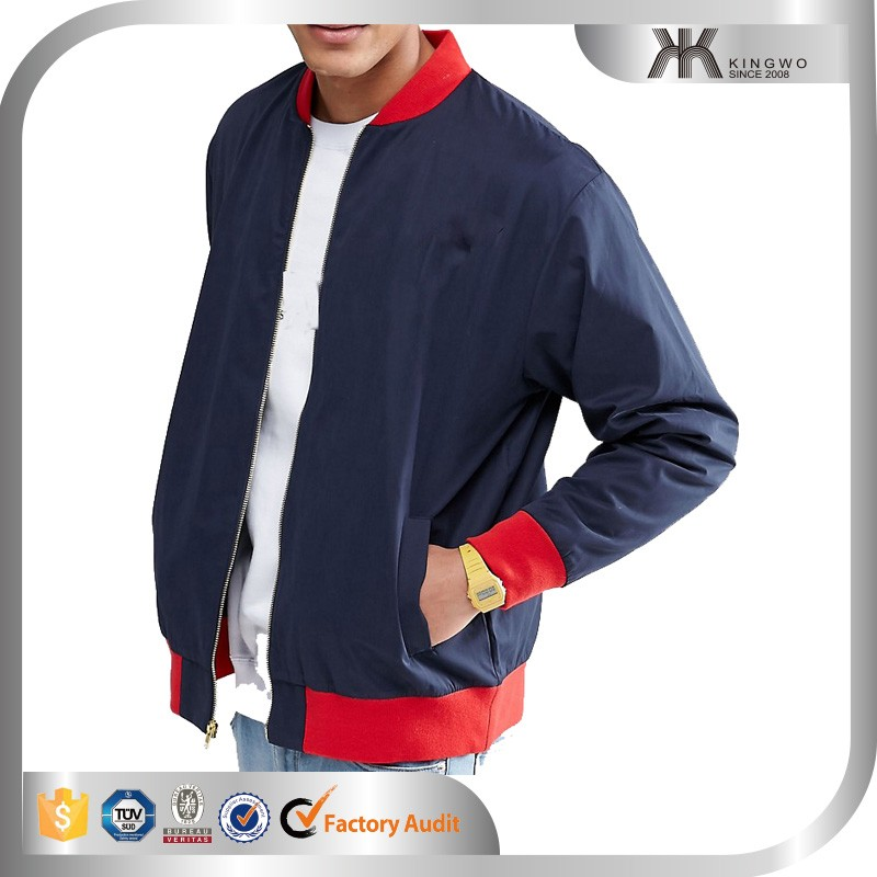 Men's bomber jacket custom plain varsity jacket