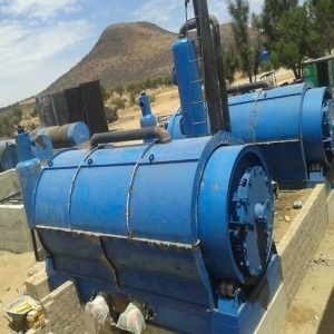 Waste tyre rubber recycling machine to fuel oil