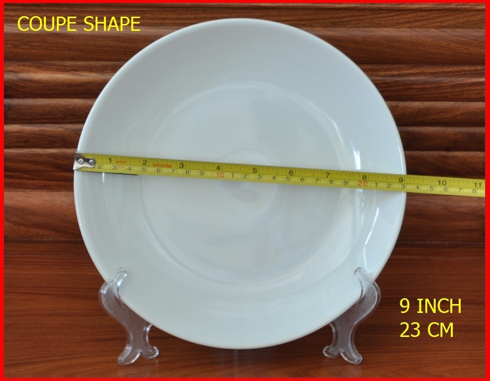 corelle coupe shape porcelain dinner plate for restaurant