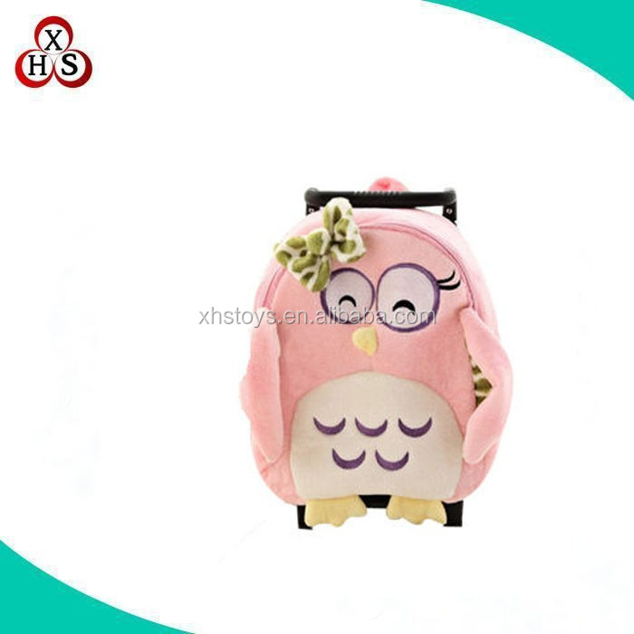 hot sale OEM /ODM plush animal kids trolley luggage bag in china