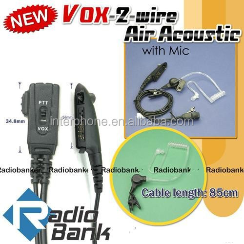 VOX Air Acoustic w/ mic for GP-328Plus GP-344 PT567 GP388 [4-007M328plus],2-wire Air Acoustic w/mic