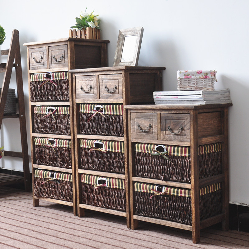 Vintage <strong>style</strong> Wood wooden Jewelry Box Chest of drawers Cabinet
