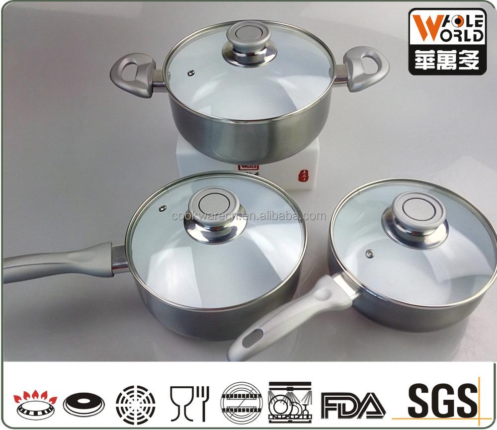 Aluminum Ceramic Coating Cookware Sets White Ceramic