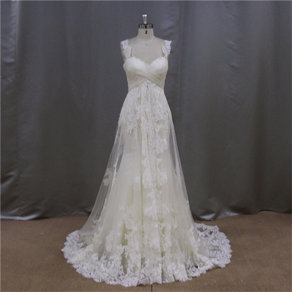 Fairy layered tulle a-line irish lace wedding dresses