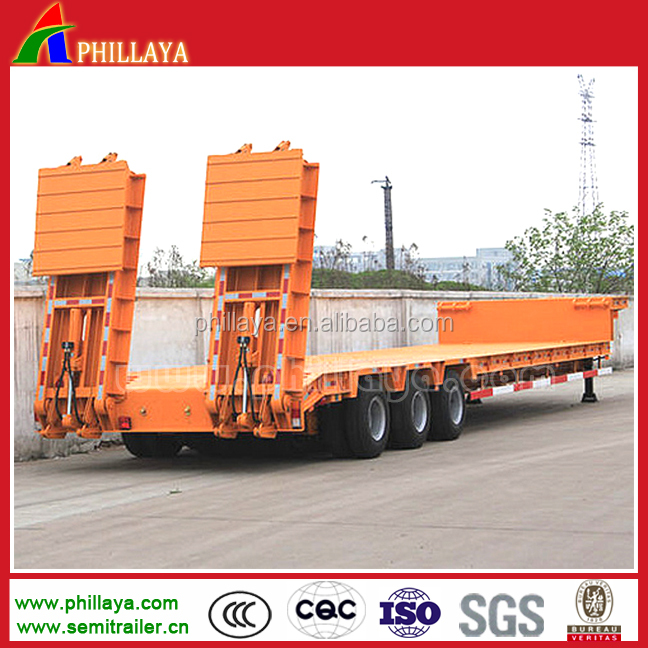 50ton/60ton trailer with low platform and with hydraulic landing gear