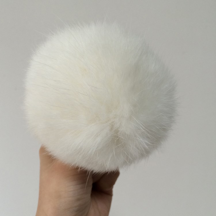Colorful racoon dog fur/fox fur/rabbit fur Balls to with hat/cap
