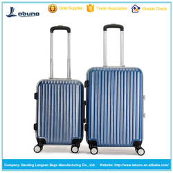 wholesale hard shell PC and aluminum trolley luggage carry-on luggage