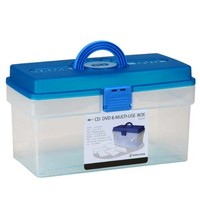 CD-DVD plastic container with handle/CD-DVD plastic storage box with cover #25010000000000