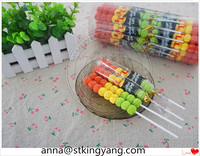 Gummy balls lollipop soft candy