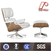 white lounge chair replica with ottoman DU-388C