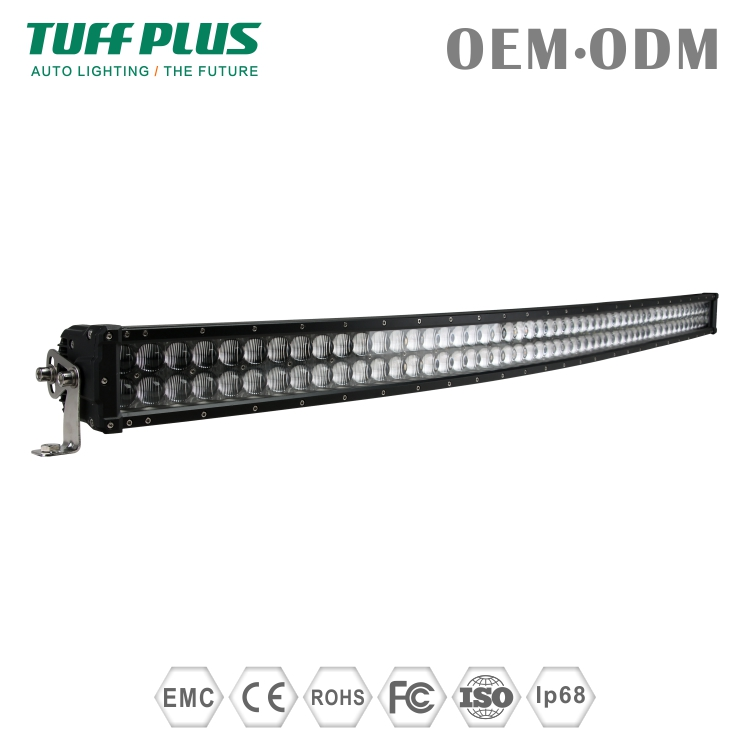 High power 27000lms 52inch 4D curved led off road light bars