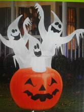 Inflatable Halloween Decoration Pumpkin with White Ghost