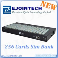 multi sims wireless voip recharge card imei unlocking 128 / 256 port sim bank for terminal blocking