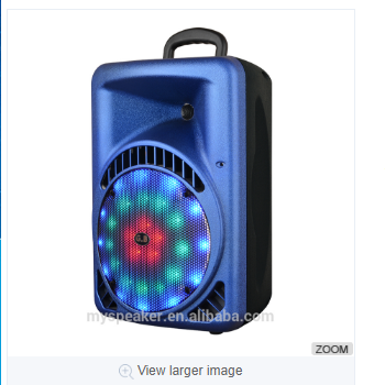2017 portable plastic speaker boxes KM-B8/B10/B12/B15 outdoor portable trolley speaker karaoke system