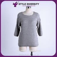 2016 New design women pullover basic style 100% cashmere sweater for sale