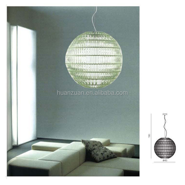 fancy round ball crystal block modern pendant lamp,decorative light