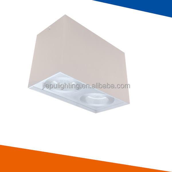 Factory directly ip20 indoor aluminum gu10 double hole led surface mount downlight