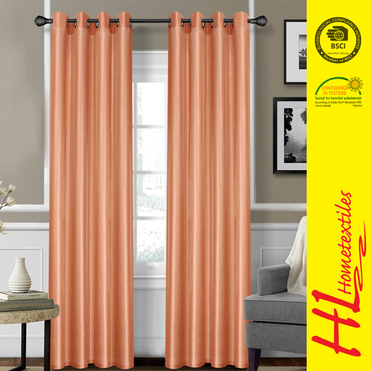 delivery on time soft graceful silk taffeta curtain