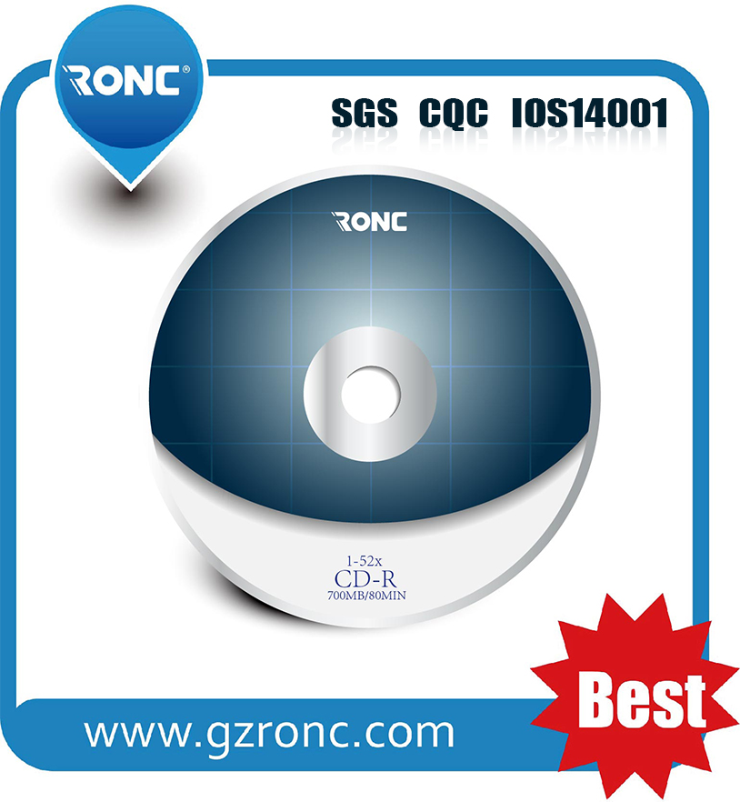 Customized Logo 700MB 52X Blank Disc CD-R RW