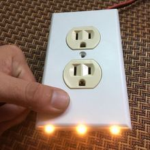 Wholesale cheap wall outlet cover night light