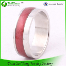 Top design stainless steel metal o ring red enamel ring J5-0042