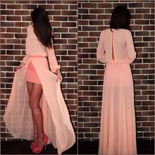2016 Fashion Paskistanni Fork Style Women Long Maxi Dress With Open Forck