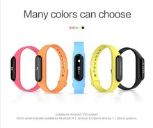 Customize Heart rate Smart band support 9 languages for Xiao Mi smart phone