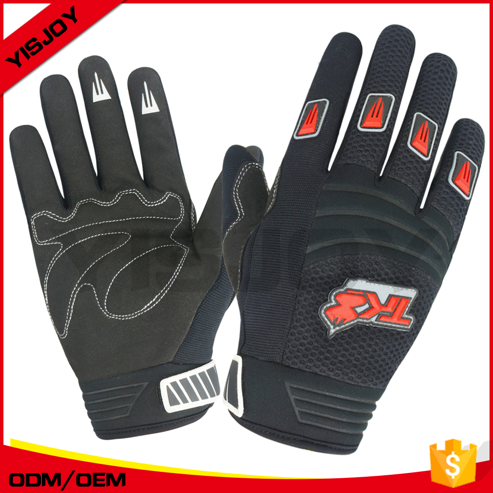 full finger men racing gloves gel padded motorbike motorcycle gloves with silicone prints